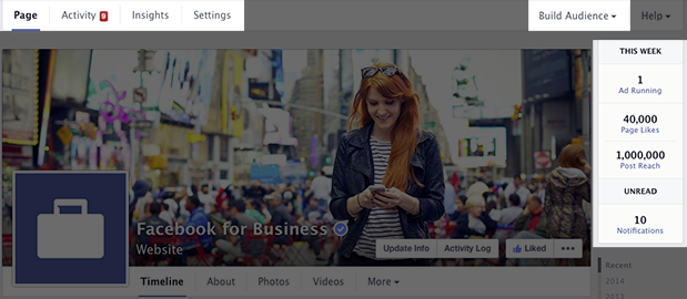 Facebook page access to admin tools