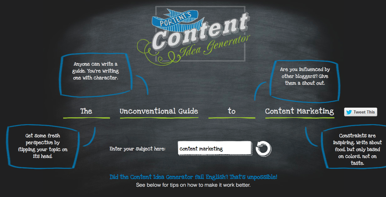 30 original blog post ideas for your content marketing for Portent idea